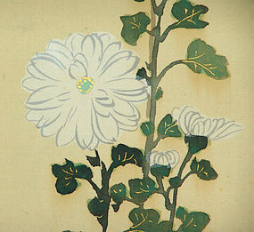 Kiku Imperial Flowers, Painting by Kamisaka Sekka