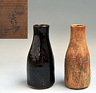 Superb 19th c. Raku Kichizaemon Pottery Tokkuri